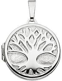 redonda Cadenas de colgante/medallón algodón vida algodón El Mundo Árbol de plata 925plateado para 2fotos