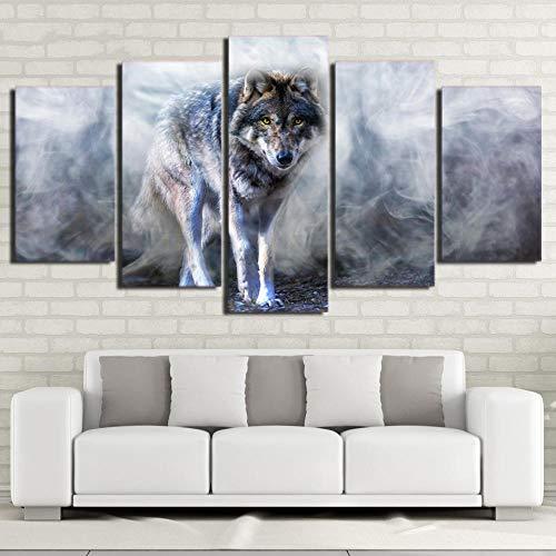 SMXSSJT Cinco Cuadros Consecutivos Lobo HD Impreso