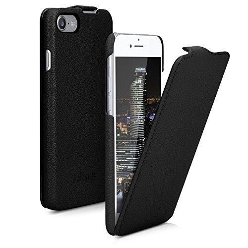 kalibri-Flip-Hlle-Ultra-Slim-Tasche-fr-Apple-iPhone-7-Leder-Schutzhlle-Case-in-Schwarz