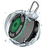 Alitoo Altavoz Bluetooth, portátil Altavoz inalámbrico para baño Bluetooth, micrófono Incorporado, Resistente al Agua, para TV, computadora, teléfono Inteligente, Más (Grey)