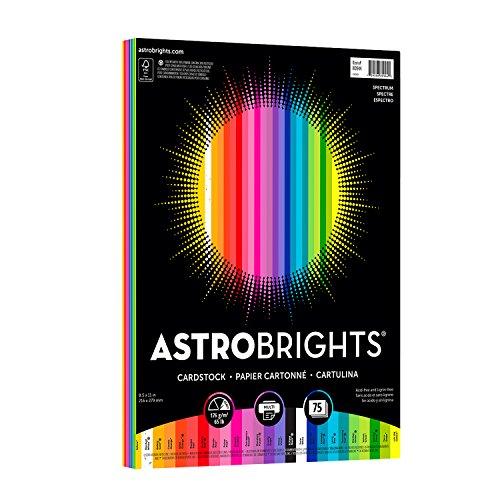 Astrobrights Farbiges Kartonpapier Spektrum 8-1/2 x 11 in spectrum