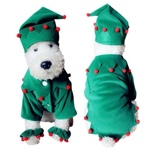 huuation Pet Hund Weihnachten Kleidung Haustier Hund Katze Puppy Coat Kostüme Kleidung für kleine Hunde/Welpen/Teddy (Verspielt Kostüme Welpen)
