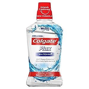 Colgate Plax 500ml Whitening Mouthwash - Pack of 1 Bottle