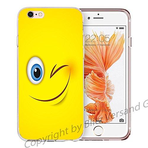 Blitz® EMOJI motifs housse de protection transparent TPE caricature bande iPhone Psssst M11 iPhone 6sPLUS Twinker M16