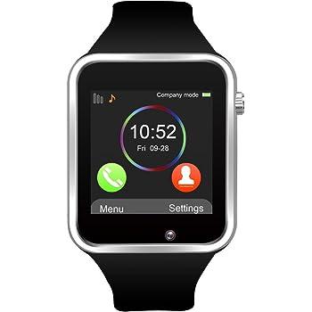 Reloj Inteligente, Jukkarri con Bluetooth y Ranura para Tarjeta SIM para Usar Como Teléfono Móvil