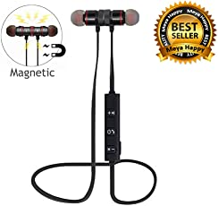 Meya Happy 4 in 1 Magnetic Bluetooth Neckband Style Headset for All Android Smartphones (Random Colour)
