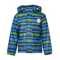 Legowear Boys Johannes 210 Striped Raincoat, Turquoise, 5 Years (Manufacturer Size:110)