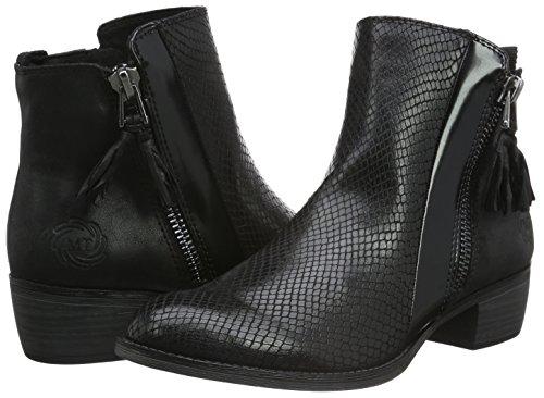 Stiefel Ant Marco 25305 Tozzi Schwarz comb Kurzschaft Damen black 096 r1Iwq1