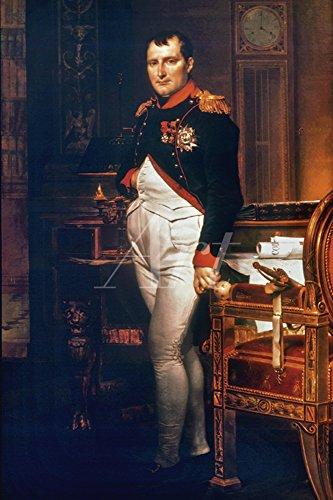 Artland Alte Meister Bild Leinwand Jacques-Louis David Bilder 30 x 20 cm Napoleon Bonaparte 1812 Kunst Wandbild Klassizismus C2TW