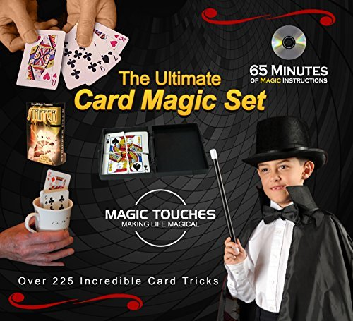 Kit Amazing Kid Tricks, Magic (MAGIC CARD TRICKS SET - The Ultimate Card Magic Tricks Set for Kids and Grown-ups Alike - Over 300 Incredible Card Tricks Revealed and Explained in This Amazing Magic Set - This Ultimate Card Magic Kit is Made in USA and Includes a Special 65 Minute Card Tricks DVD Tutorial.)