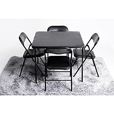 FurnitureR Folding Square Set of 4 Dining Table & Chair Sets - cheap UK light store.