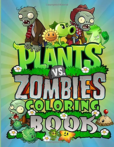 Plants vs Zombies Coloring Book: Great Activity Book For Kids (31 illustrations, ages 4-9) por Kim's Books