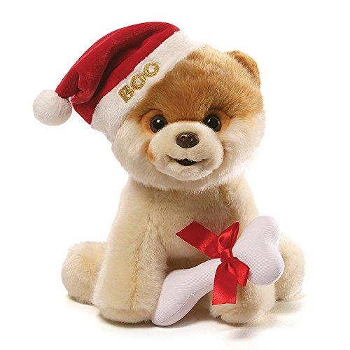 GUND Boo 4059120Itty Bitty Boo Ornament Santa Hat (Santa Dragon Hund Spielzeug)