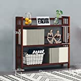 Zfggd Brown Bücherregal Holz Wohnzimmer Kind Student Schlafzimmer Bücherregal (größe : 90cm)