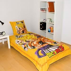 dragonball z dbo parure linge de lit 200 x 140 cm cuisine maison. Black Bedroom Furniture Sets. Home Design Ideas