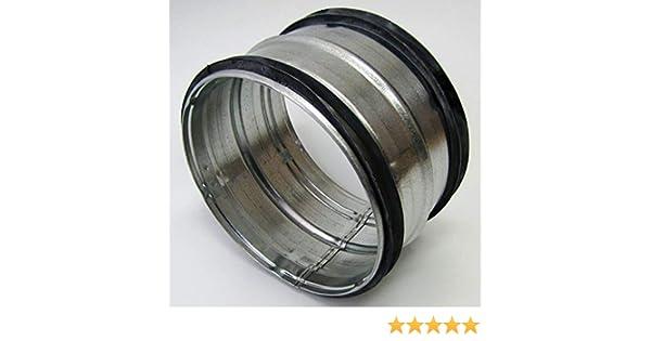 Nippel f/ür Wickelfalzrohr NW80 bis 400 mm Lippendichtung Stahl verzinkt. DN 100 mm
