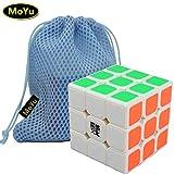 MoYu AOLONG V2 3x3 3 Layers Magic Cube Speed Puzzle Cube White + One MoYu Cube Bag