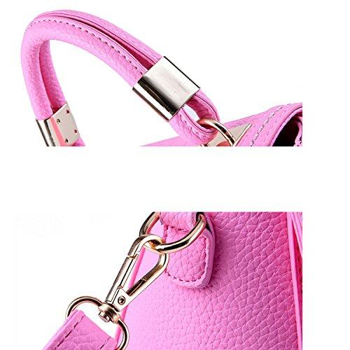 Frauen Top Griff Schulranzen Handtaschen Taschen Handtasche Multicolor Grey