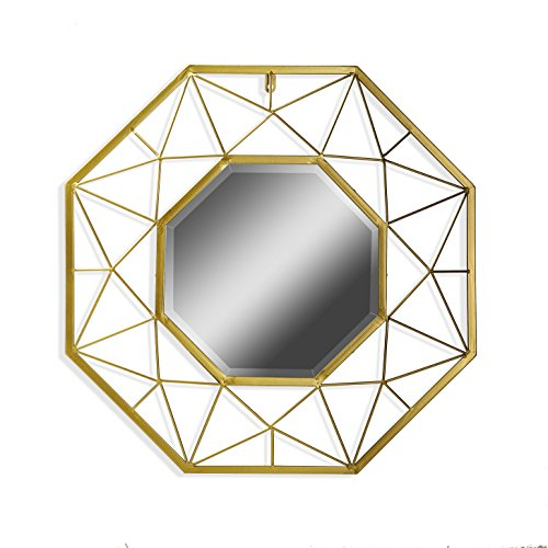 Versa 18830114 Espejo Marco Octogonal Metal Dorado