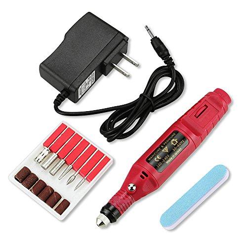 Betterhill Electrique Nail Art Drill Manucure Pédicure fichier d'outils 6 TIB bouchon UE