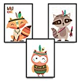 luvel - 3er-Set DINA4 Poster für Kinderzimmer und den Bilderrahmen, Kinderposter, Babyzimmer Bilder, Baby Bilder, Dekoration Kinderzimmer (P17)