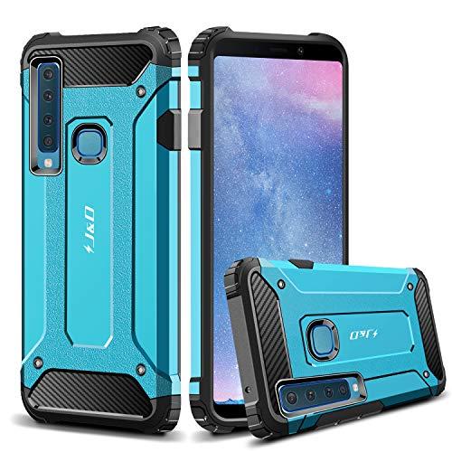 J & D Kompatibel für Galaxy A9 2018 Hülle, Galaxy A9 Star Pro 2018 Hülle, [ArmorBox] [Doppelschicht] [Heavy-Duty-Schutz] Hybrid Stoßfest Schutzhülle für Samsung Galaxy A9 (Release in 2018) - Blau
