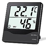 ORIA Digital Hygrometer Thermometer, Innen Thermo-Hygrometer Monitor Temperatur Luftfeuchtigkeit Messgerät mit Großer LCD Bildschirm, ℃/℉ Schalter und Komfortausdruck Für Zuhause, Büro, etc