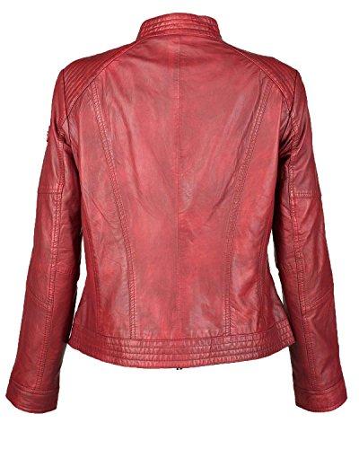 JCC Lederjacke, Damen MPJ-244 Echtleder Lammleder Polyester black brown red 36-44 Rot