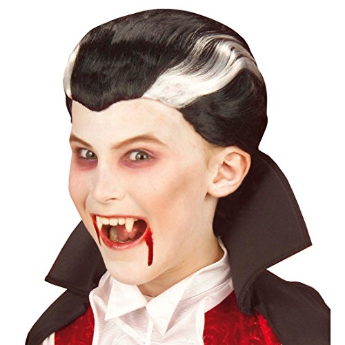 NET TOYS Kinder Perücke Dracula Halloween Vampir Perücken Vampirperücke Halloweenperücke Vampire Fasnet Fasnacht Draculaperücke Kostüm ()