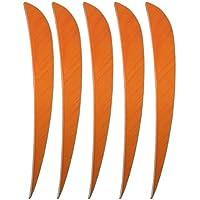 50 piezas Tiro con arco de caza Plumas de flecha 5 pulgadas (Naranja)