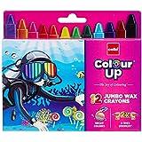 Cello Pens ColourUp Jumbo Wax Crayons - 10 Packs (12 Shades Each) - Return Gift Box