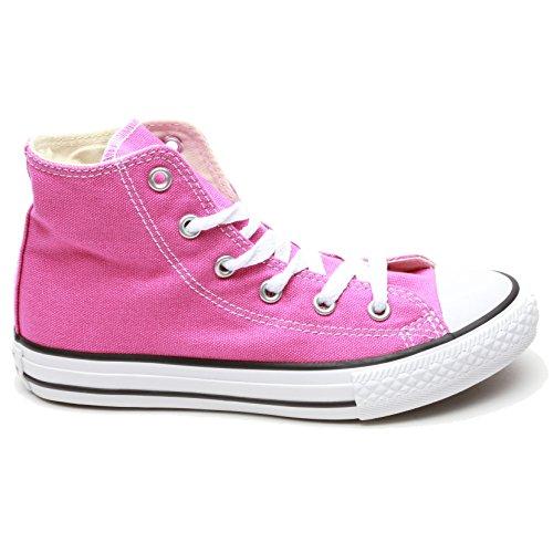 CONVERSE - Scarpa Sneaker fucsia stringata, in tela, (Fucsia Tessuto Calzature)