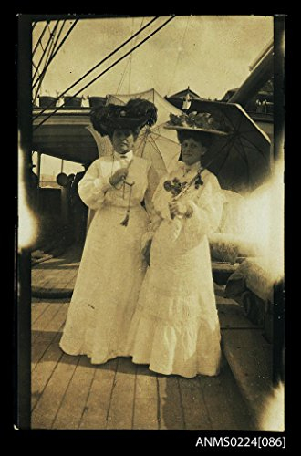 POSTER Two women deck unknown ship This photograph is part McKilliam family collection which includes material from several members. The Australia Maritime Australian National