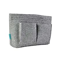 Felt Handbag Organizer Insert, Multi-Pocket Tote & Purse Organizer Bag In Bag For Cosmetic Supplies Mobile Phone Keys