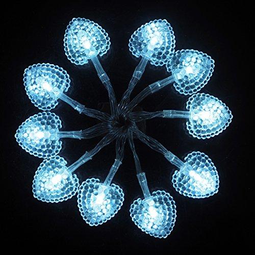 Luci Stringa Alimentazione a Batteria LED Fata Marocchine Luci Della Stringa 2m Con 10 LED A forma di cuore Per Il Natale Di Nozze Del Festone Del Partit - Fili A Forma Di Cuore