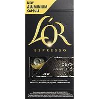 L'OR Espresso caffè Onyx Intensità 12 - Capsule in Alluminio compatibili con macchine Nespresso, 5 Confezioni da 10 capsule [Tot. 50]