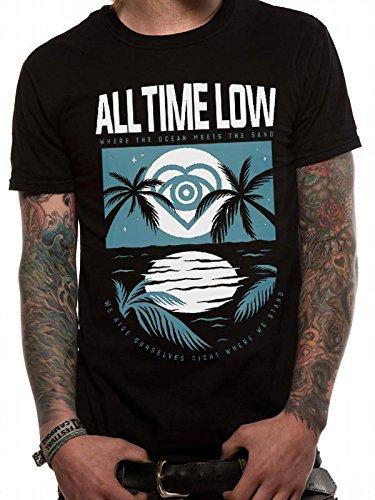 CID Herren T-Shirts All Time Low-Lagoon Schwarz