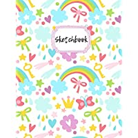 """Sketchbook: Rainbow Blank Drawing Book For Girls & Boys 