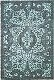 Nain Trading Vintage Royal 368x246 Orientteppich Teppich Dunkelgrau/Blau Handgeknüpft Pakistan Design Teppich Modern