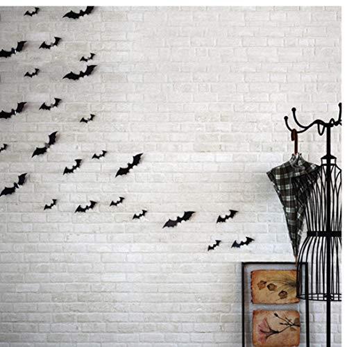 Zonster 12pcs / Lot Schwarz 3D DIY PVC Bat Wandaufkleber Aufkleber Haus Halloween-Dekoration