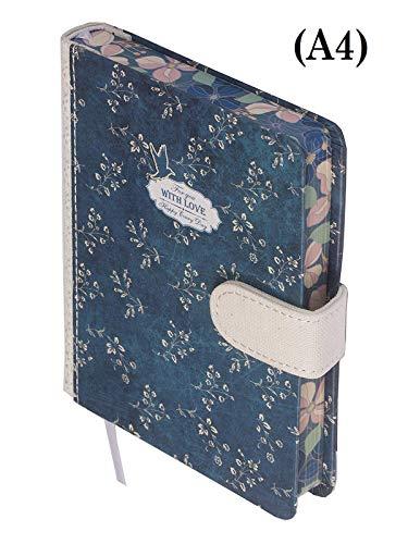 Kalpa Skizzenbuch Organizer Notizbuch Tagebuch Planer Mit Liebe - 17,5 x 25 cm - Blau