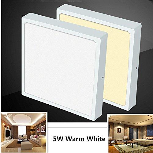 85-265V Ultradünne Platz LED-Panel Licht Anti-Nebel-Deckenleuchte Downlight Home Office Dekoration 5W 75mm warm white light Leder Top-panel