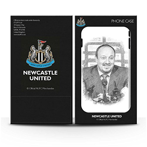 Offiziell Newcastle United FC Hülle / Gel TPU Case für Apple iPhone 5C / Pack 8pcs Muster / NUFC Rafa Benítez Kollektion Skizze
