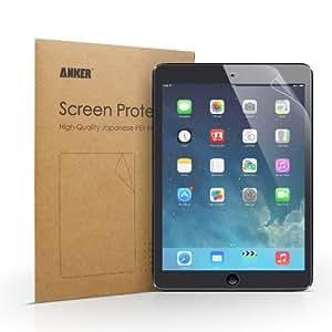 [2-Pack]Anker® Ecran protecteur Anti-reflet, Anti-Empreinte pour Apple iPad Air, Apple iPad Air 2 - Haut Niveau de Transparence et Matériaux PET Japonais de Haute Qualité - Résistant au Taches + Emballage de Vente au Détail - Garantie à Vie