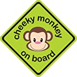 Indigo Cheeky Monkey On Board Sign