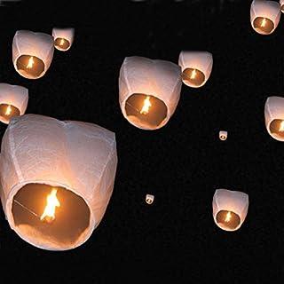 OGORI 10pcs Chinese Paper Lamp Wishing Lanterns for Party Wedding
