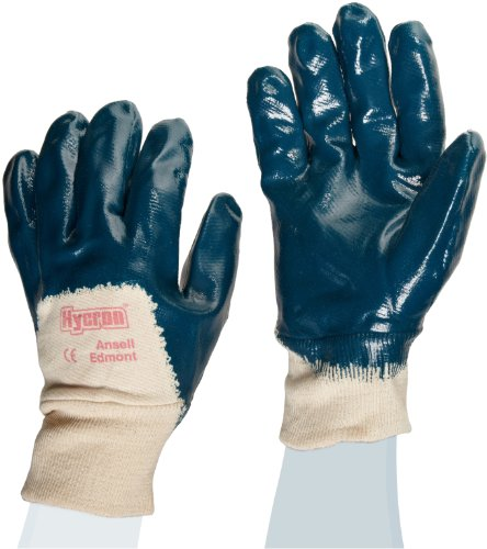 Ansell Hycron 27-600 Gants oléofuges, protection mécanique, Bleu, Taille 8 (Sachet de 12 paires)