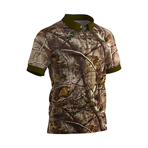 Raptor Hunting Solutions Uomini Realtree Camo Polo T-shirt realtree AP (L)