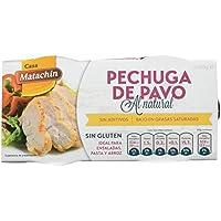 Casa Matachín Conserva Cárnica de Pechuga de Pavo al Natural - Paquete de 16 x 180 gr - Total: 2880 gr