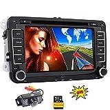 EinCar Autoradio f¨¹r Volkswagen VW / SKODA / SEAT + Car DVD-Player / Navigator mit GPS-Navigation + NAVI-Software inkl. Europa-Karten (vorinstalliert) + Bluetooth Freisprecheinrichtung 7-Zoll-Touch